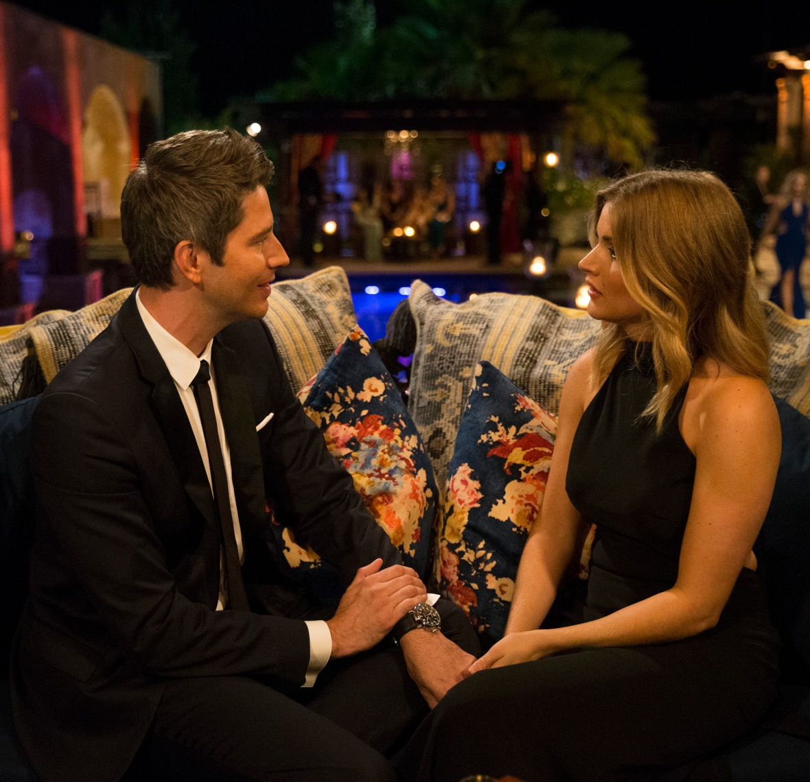 chelsea and arie the bachelor getty images