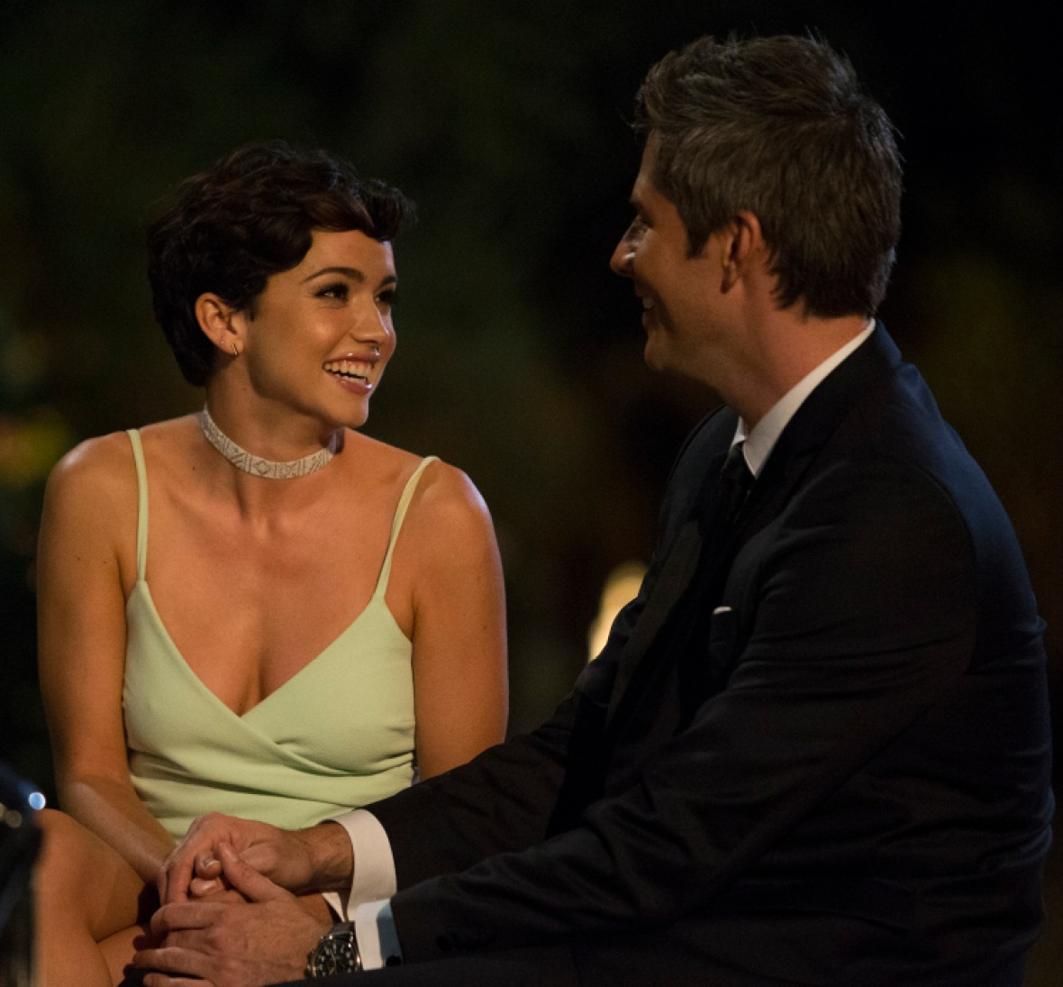 arie and bekah the bachelor getty images