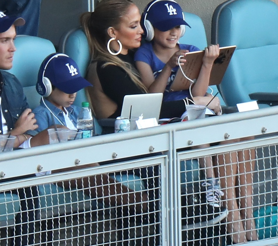 jennifer lopez at baseball game getty