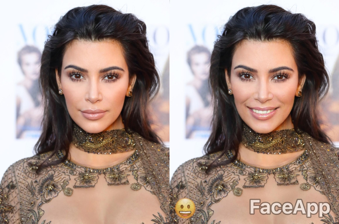 Kim smiling