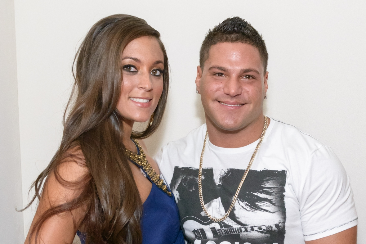 """ronnie magro sammi \\""""sweetheart\\"""" giancola getty images"""