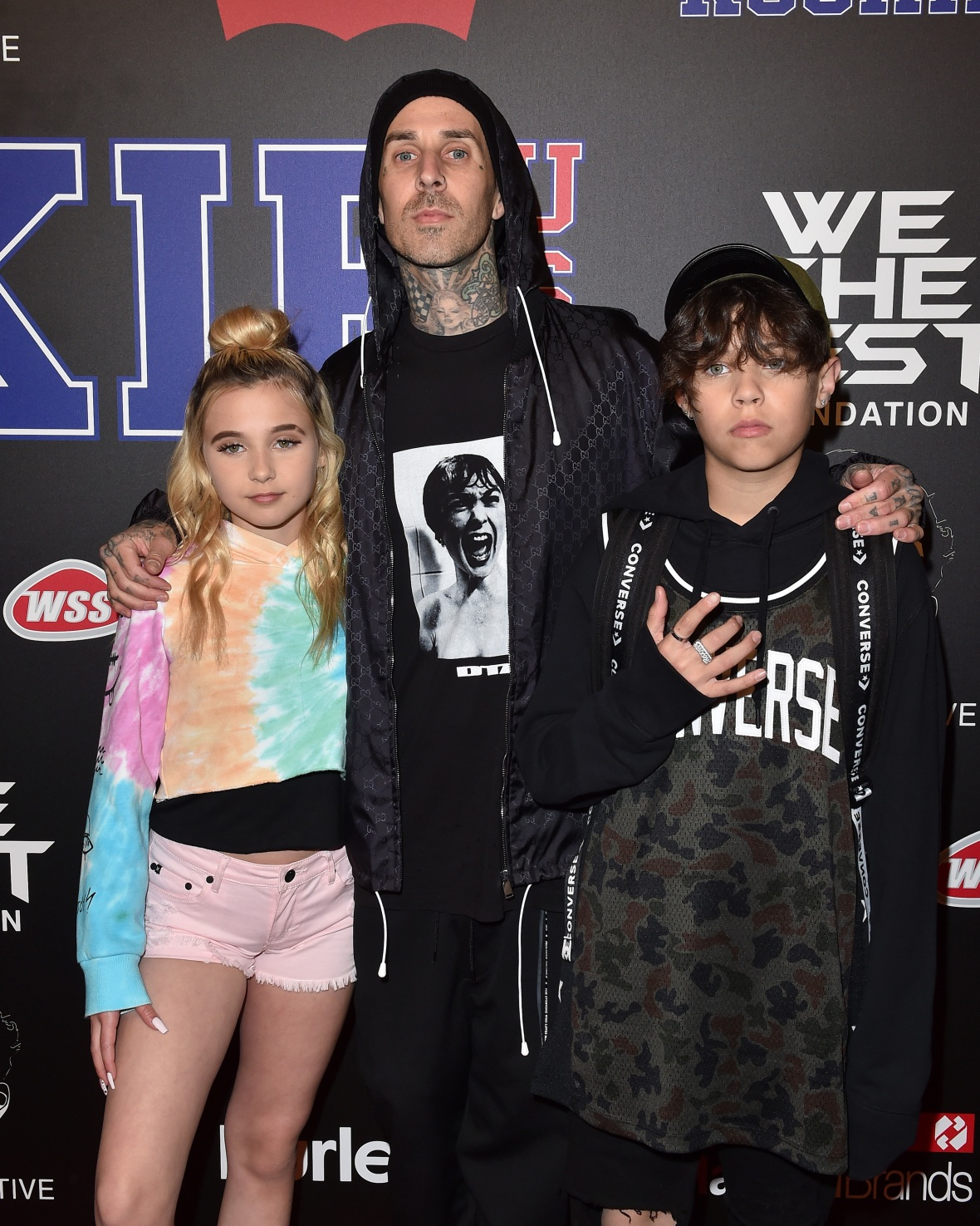 travis barker and kids, getty images