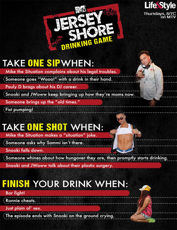jersey shore drinking game small
