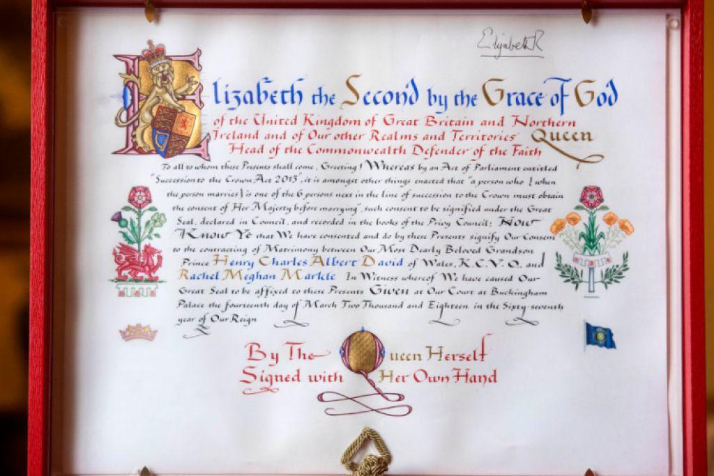 instrument of consent royal wedding