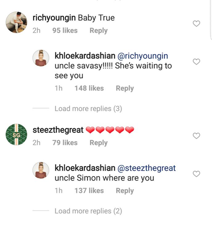 khloe kardashian tristan thompson friends instagram