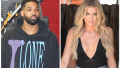 Side by side of Khloe Kardashian and Tristan Thompson