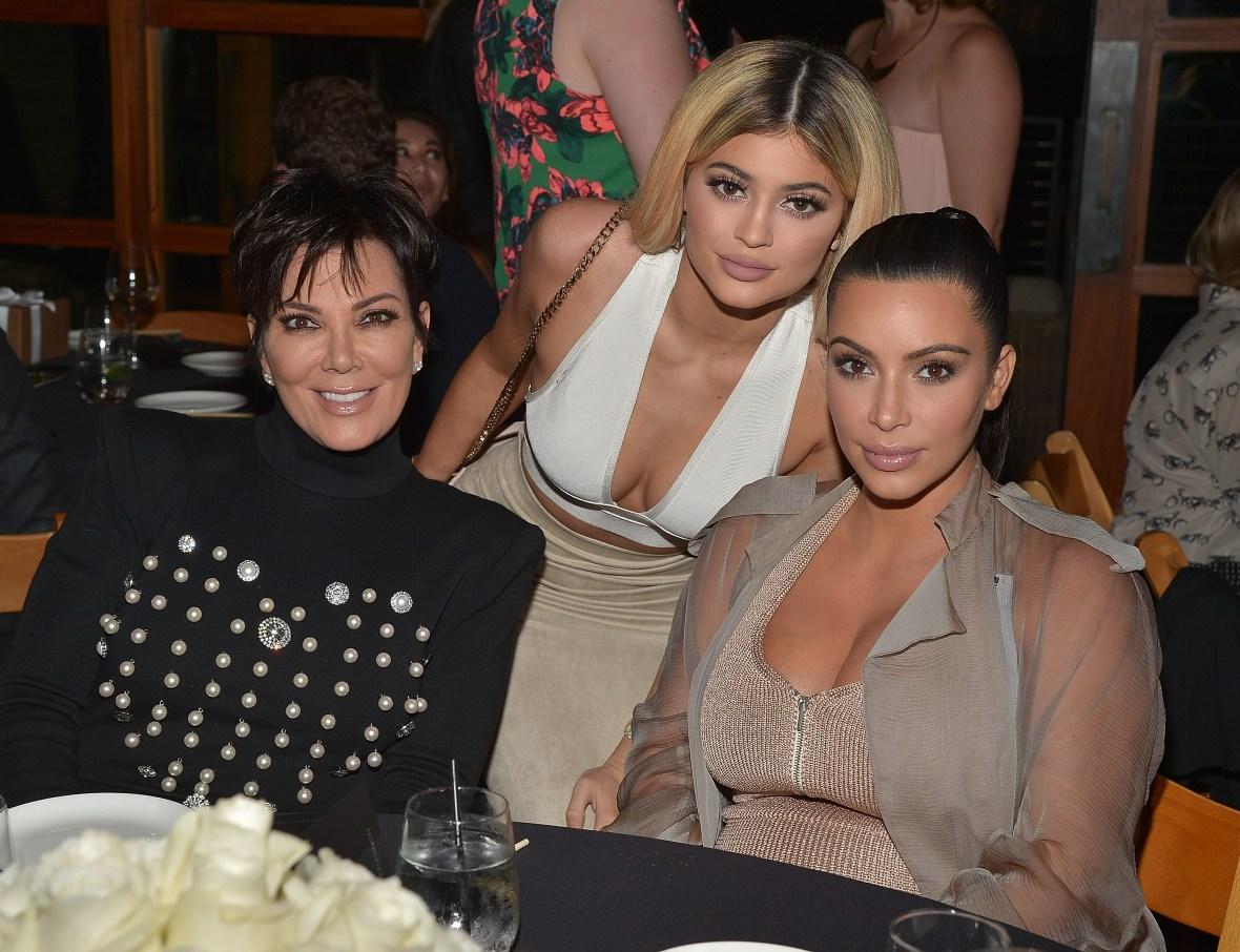 kim kardashian kris jenner kylie jenner getty images