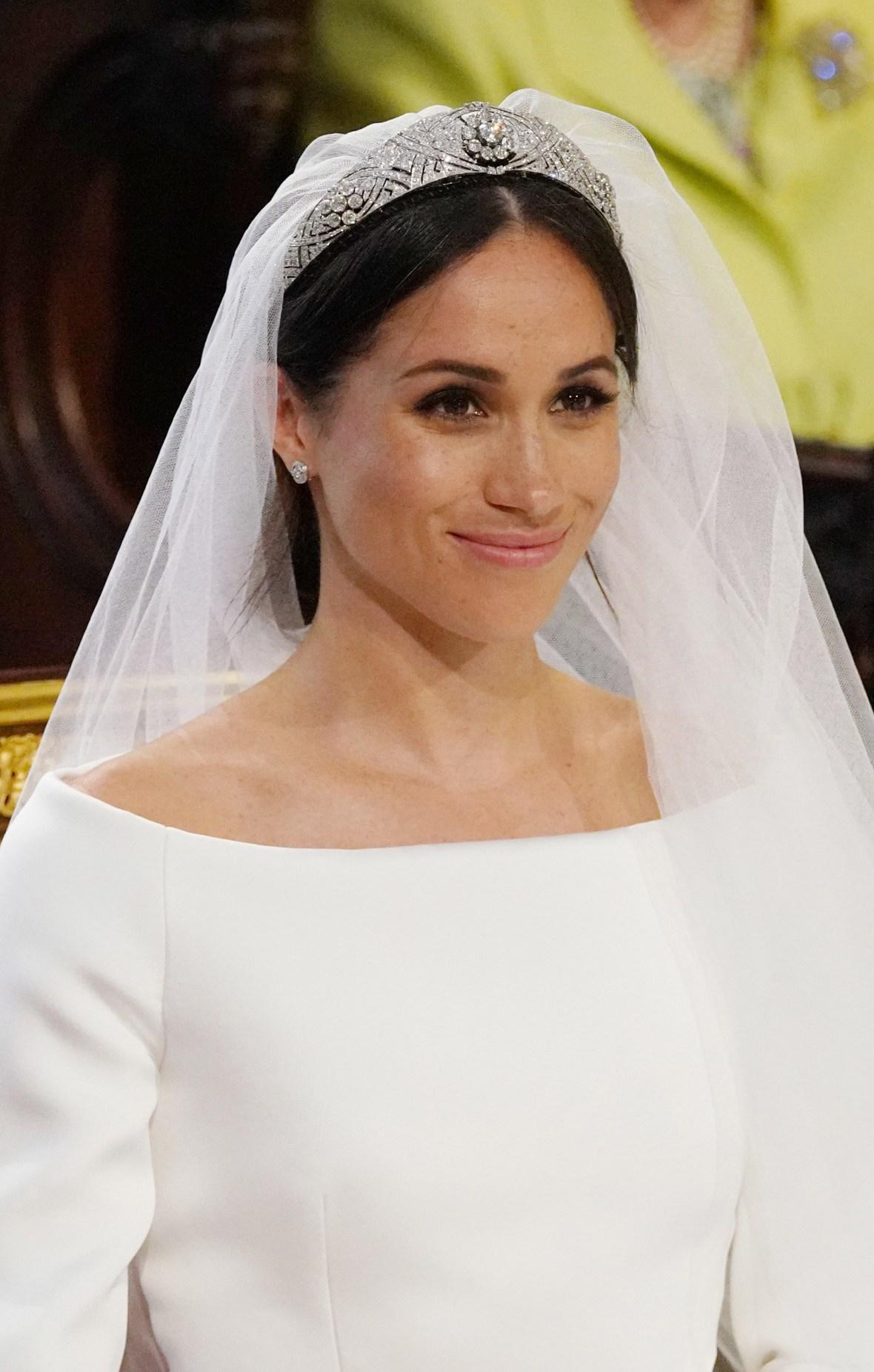 meghan markle wedding dress tiara