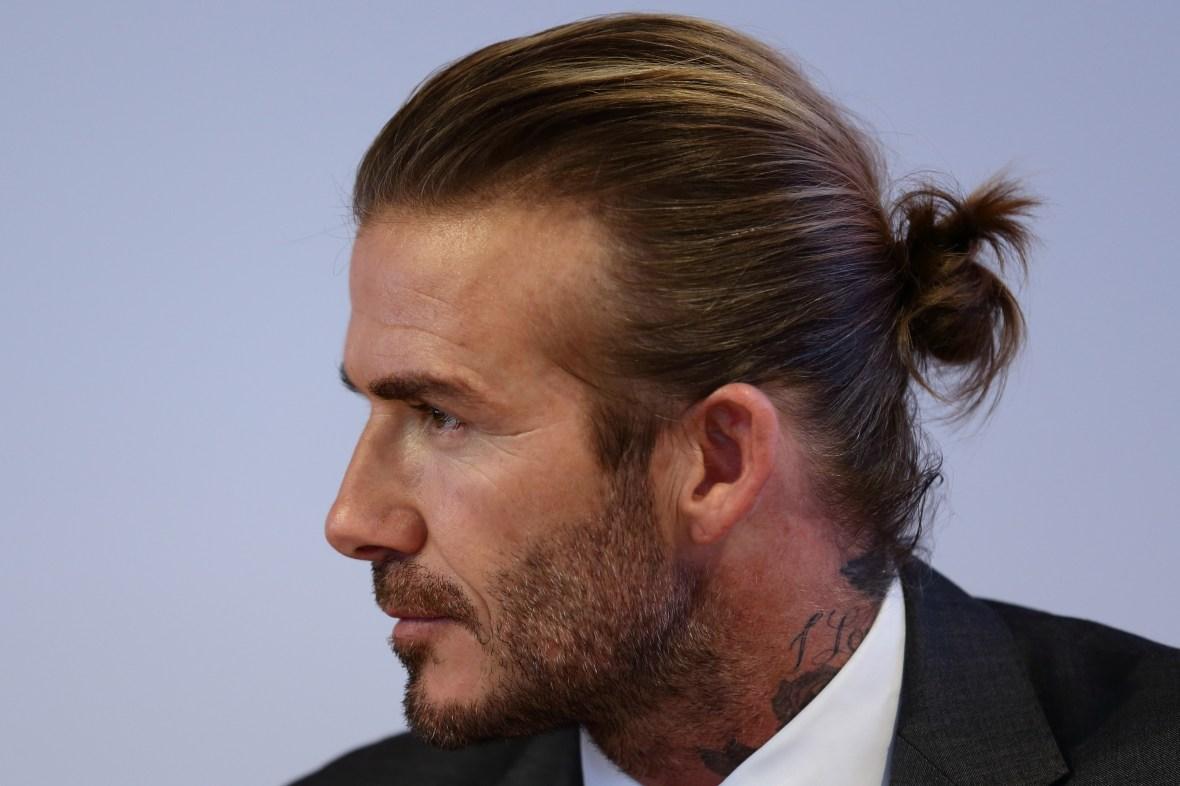 david beckham men long hair man bun getty