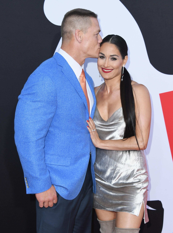John Cena, Nikki Bella, Posing