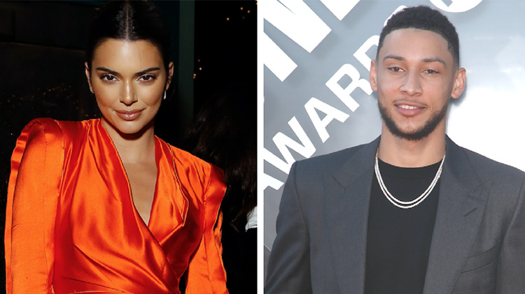 Side by side photos of Kendall Jenner and Ben Simmons