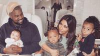 Kim Kardashian, Kanye West and their family