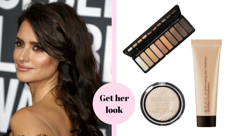 Penelope Cruz Golden Globes Makeup