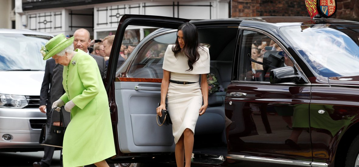 meghan markle queen elizabeth car