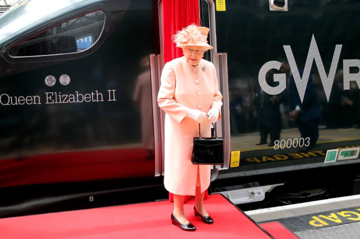 queen elizabeth train getty images