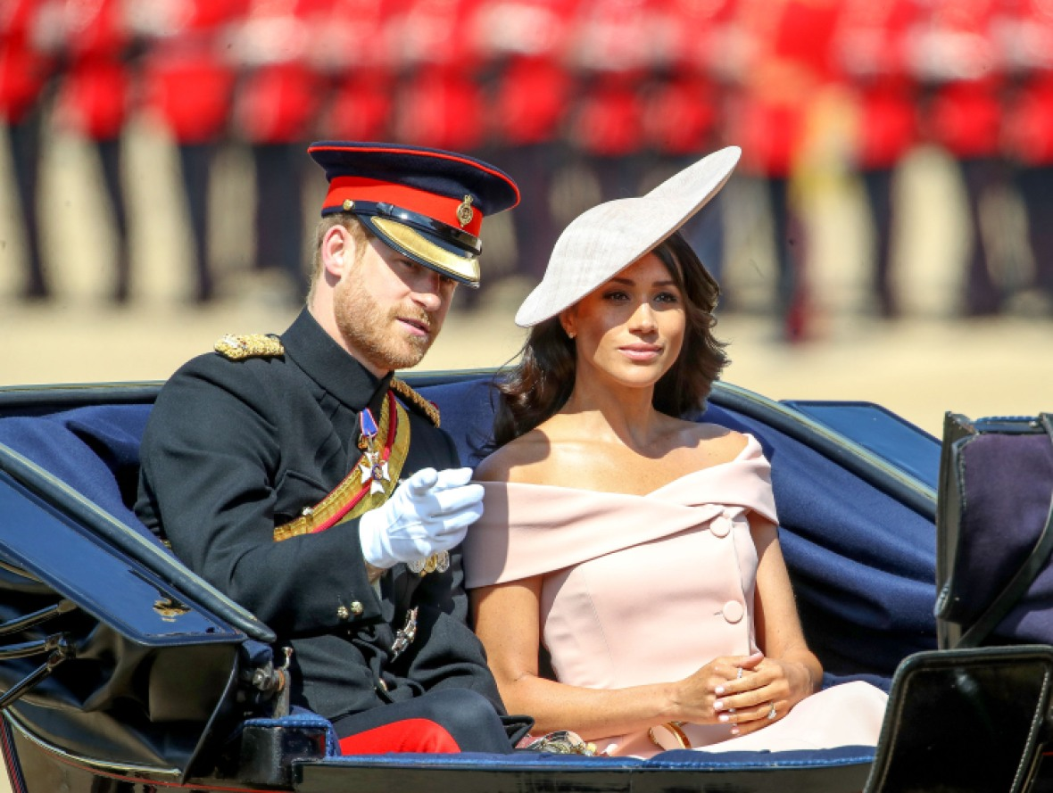 meghan markle prince harry trooping the colour 2018