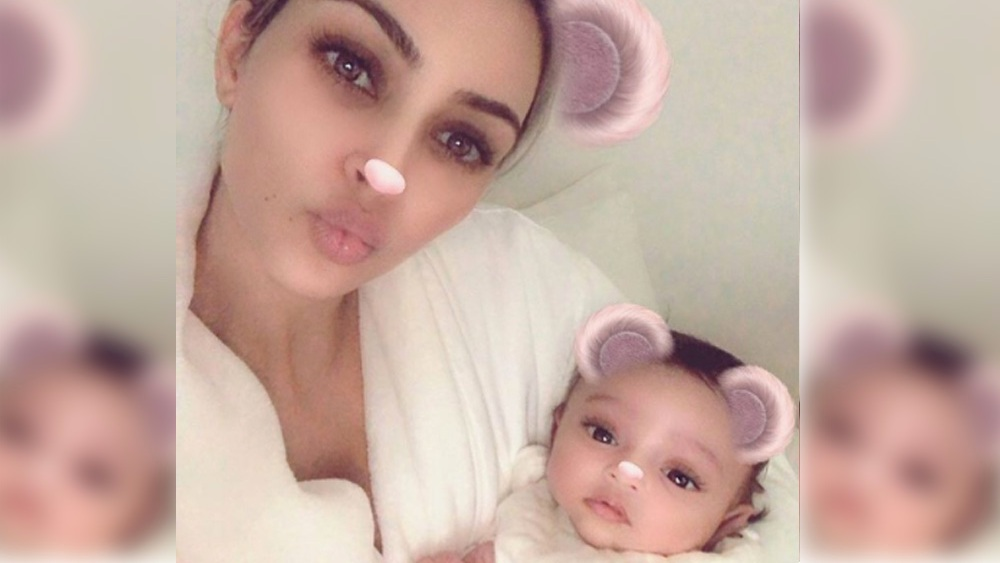 Chicago West Kim Kardashian with Instagram Filters