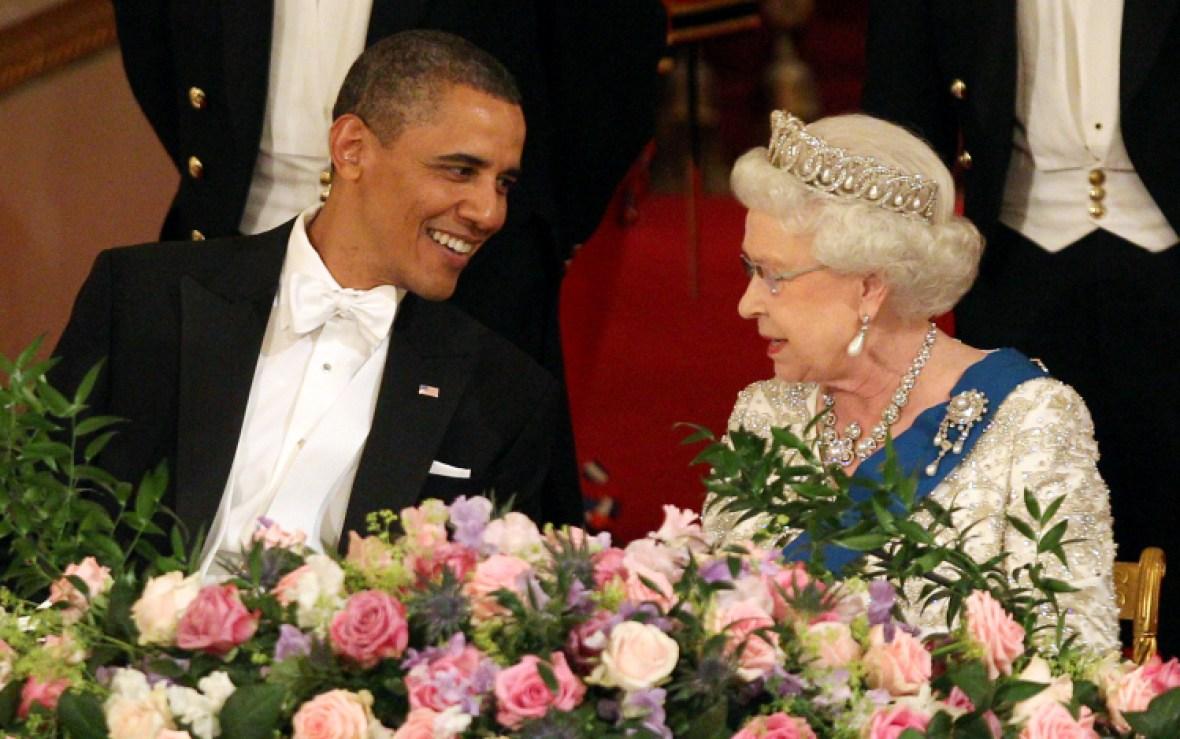 queen elizabeth barack obama
