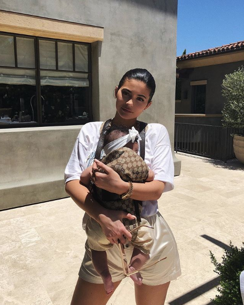 kylie with baby stormi.