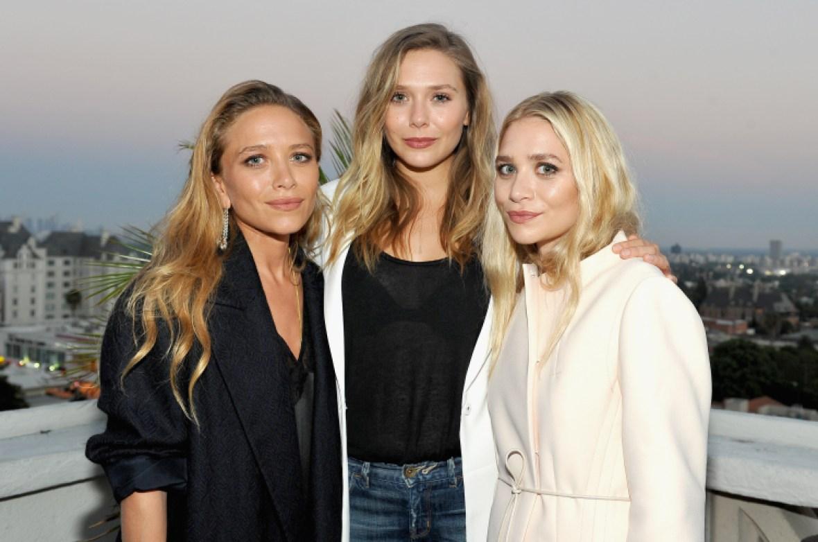 elizabeth olsen with mary-kate and ashley