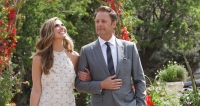Hannah B and Chris Harrison Walk Arm-in-Arm