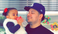 Rob and Dream Kardashian rare