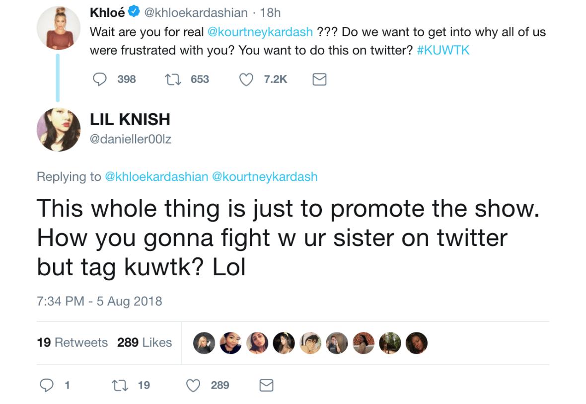fan tweets at khloé kardashian,