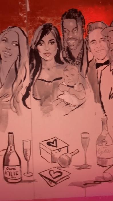 kylie jenner birthday mural