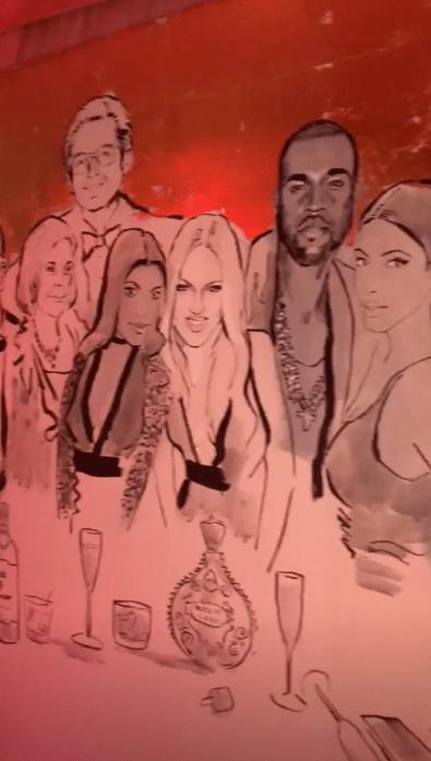 kylie jenner's birthday mural