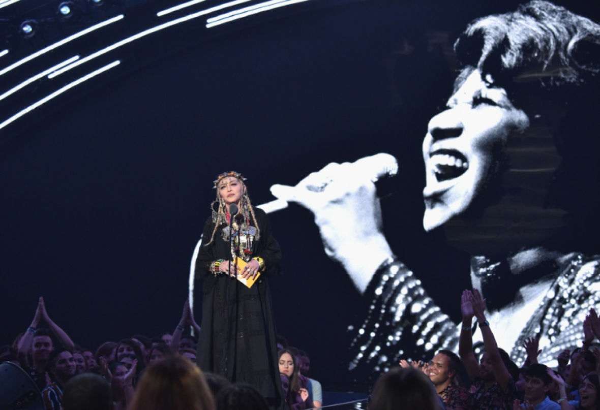 madonna aretha franklin tribute getty images