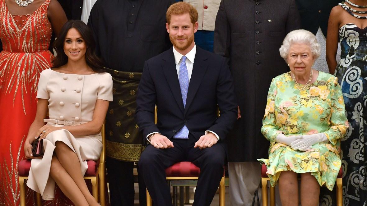 prince harry meghan markle queen elizabeth