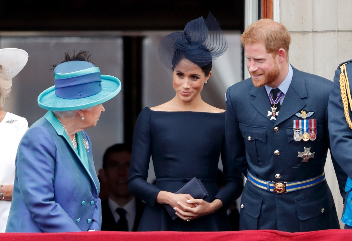meghan markle prince harry queen elizabeth