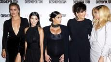 Khloe, Kourtney and Kim Kardashian with Kris and Kylie Jenner on Red Carpet
