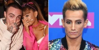 Side by side photos of Ariana Grande and Frankie Grande