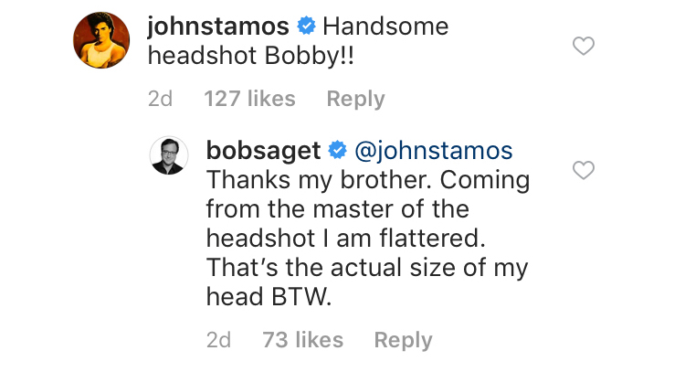 bob saget and john stamos exchange compliments in instagram comments