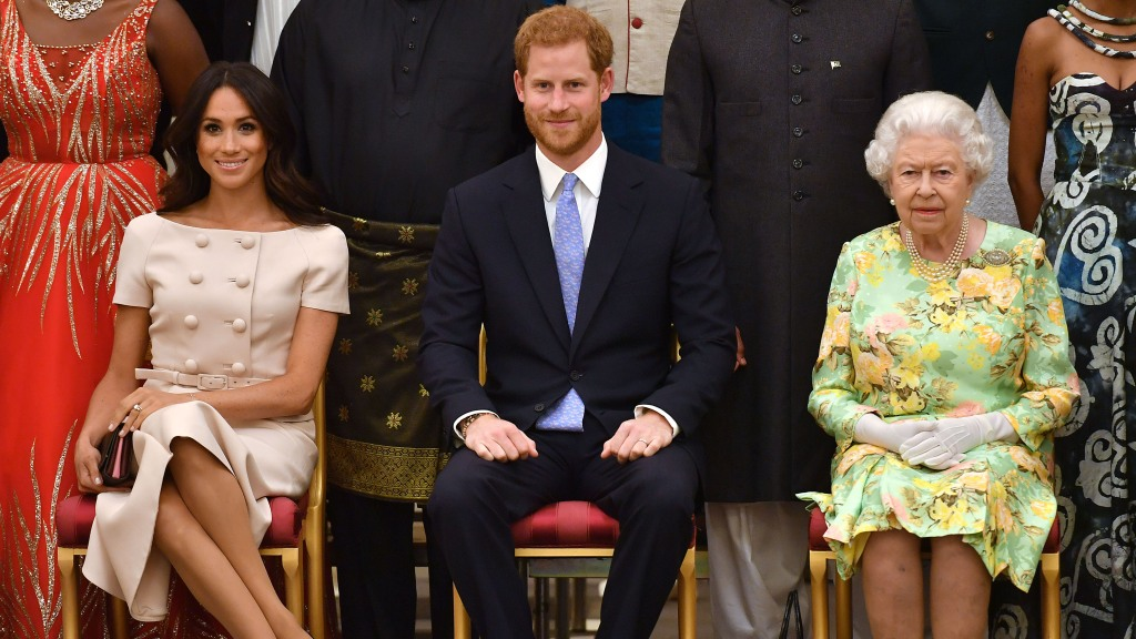 Meghan Markle, Prince Harry, and the Queen