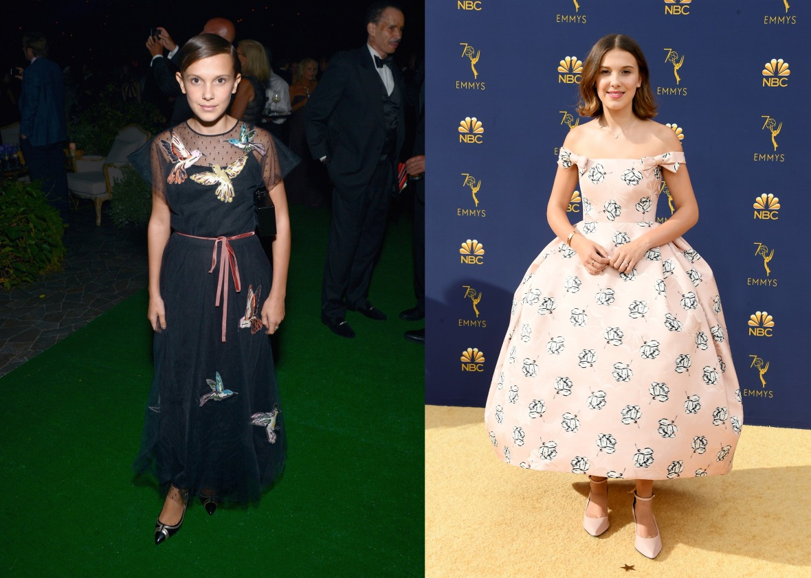 millie bobby brown emmys 2016 and 2018