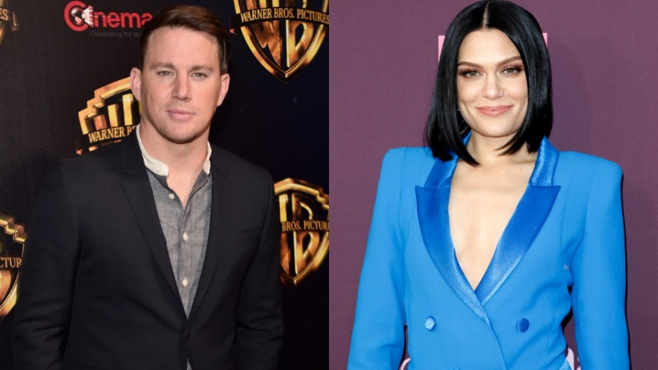 Side by side photos of Channing Tatum and Jessie J