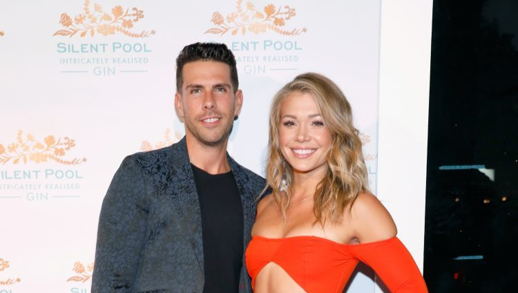 Chris Randone and Krystal Nielson attend a red carpet together.