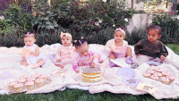 Khloé Kardashian Cousin Cupcake Party