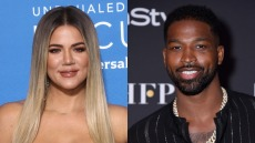 Side by side photos of Khloe Kardashian and Tristan Thompson