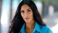 Kim Kardashian in turquoise