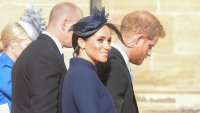 Meghan Markle Baby Bump Princess Eugenie Wedding