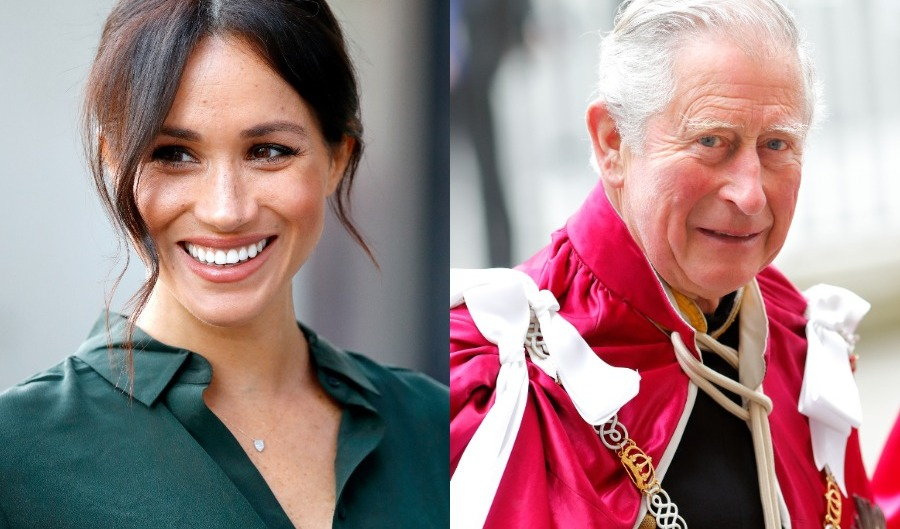Side by side photos of Meghan Markle and Prince Charles