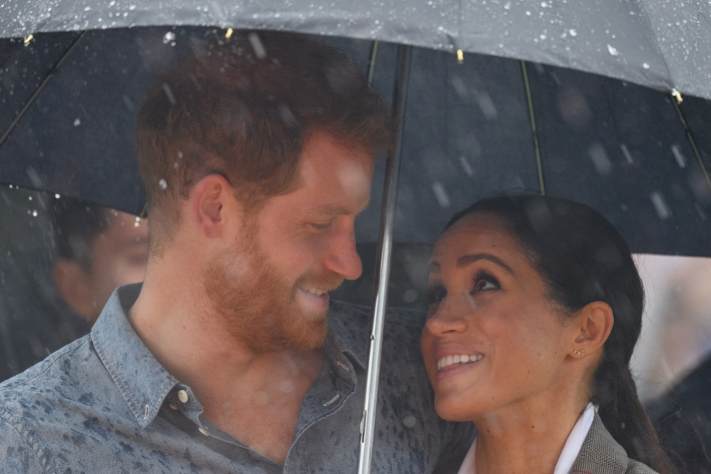 Prince Harry Meghan Markle umbrella
