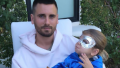 Scott and Reign Disick sitting