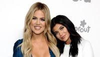 Kylie and Khloe at an event in NYC