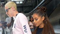 Ariana Grande and Pete Davidson walking in NYC