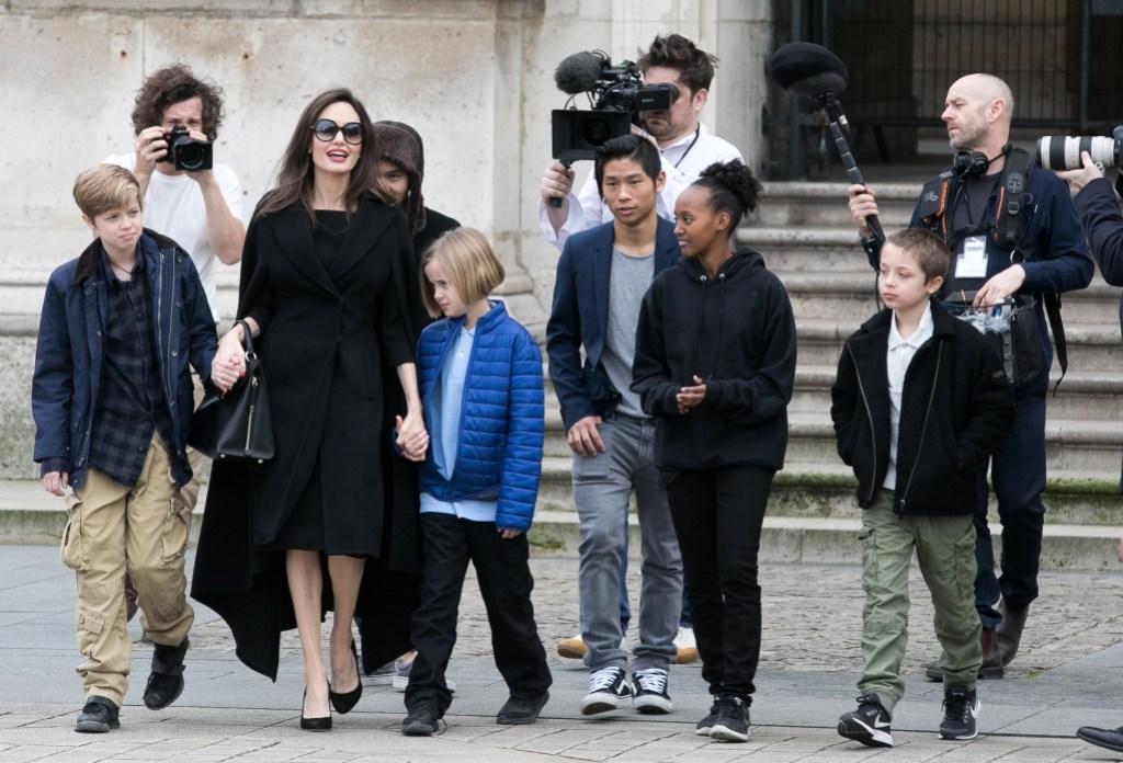 Angelina Jolie kids Paris