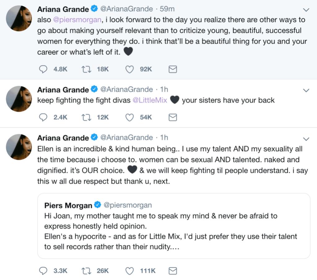 Ariana Grande tweets